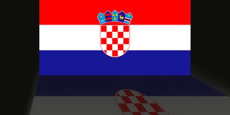 Flag of Croatia Reklamní fotografie