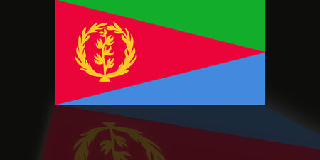 shaddow: Flag of Eritrea Stock Photo