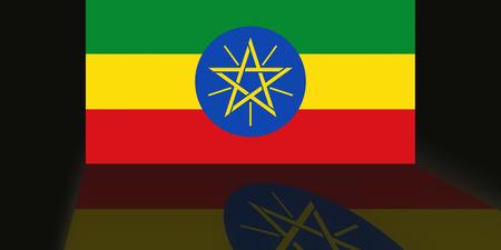 shaddow: Flag of Ethiopia Stock Photo
