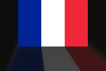 shaddow: Flag of France Stock Photo