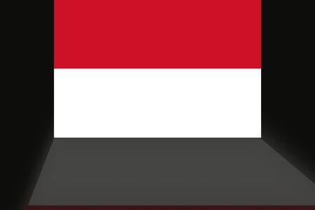 インドネシアの旗 写真素材
