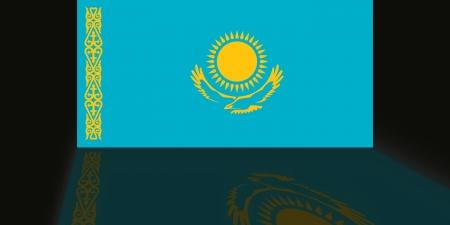 shaddow: Flag of Kazakhstan Stock Photo