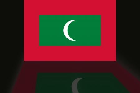 몰디브의 국기 스톡 콘텐츠
