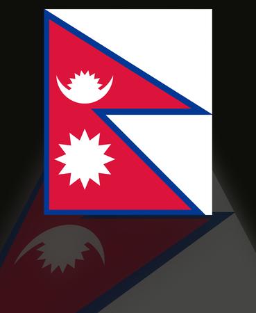 shaddow: Flag of Nepal Stock Photo