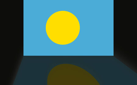 shaddow: Flag of Palau Stock Photo