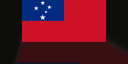 shaddow: Flag of Samoa Stock Photo