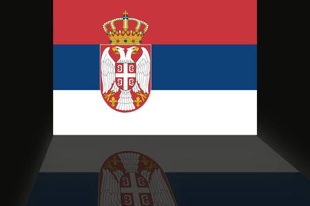 shaddow: Flag of Serbia Stock Photo