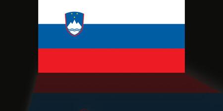 shaddow: Flag of Slovenia Stock Photo