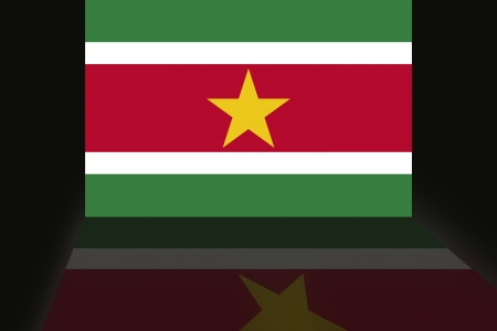 Suriname: Flag of Suriname Stock Photo