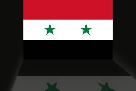 shaddow: Flag of Syria Stock Photo