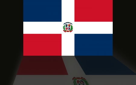 Flag of the Dominican Republic Imagens