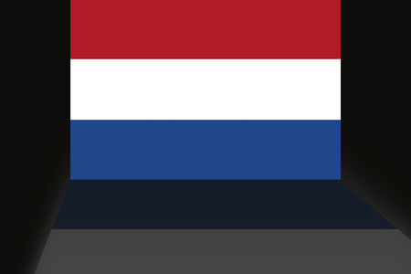 the netherlands: Flag of the Netherlands Stock Photo