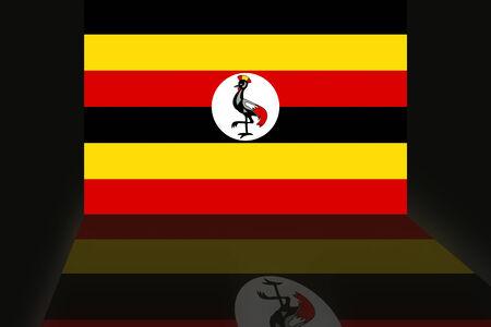 shaddow: Flag of Uganda Stock Photo