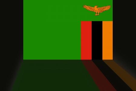 shaddow: Flag of Zambia Stock Photo