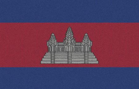 Gebreide Cambodja vlag