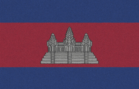 Knitted Cambodia flag 版權商用圖片