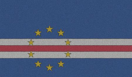 cape verde flag: Knitted Cape Verde flag