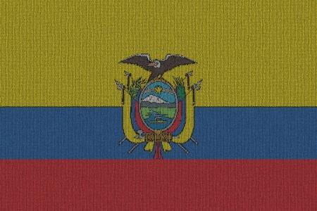 Knitted Ecuador flag Stok Fotoğraf