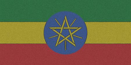 ethiopia flag: Knitted Ethiopia flag