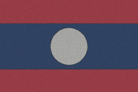 Knitted Laos flag