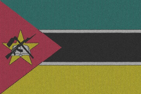 mozambique: Knitted Mozambique flag