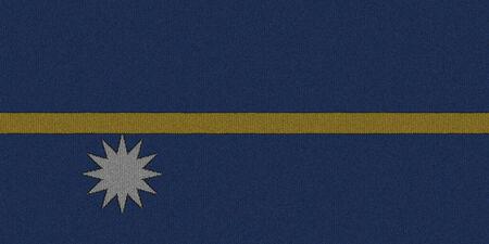 nauru: Knitted Nauru flag
