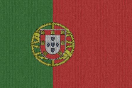 drapeau portugal: Tricot� drapeau du Portugal