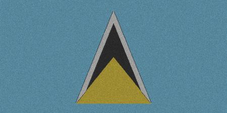 lucia: Knitted Saint Lucia flag Stock Photo