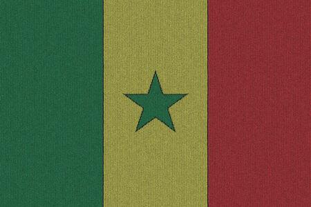 Knitted Senegal flag