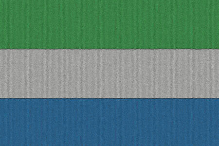 sierra: Knitted Sierra Leone flag
