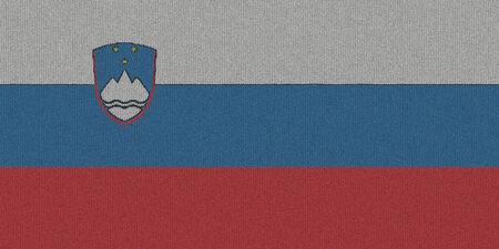 Knitted Slovenia flag