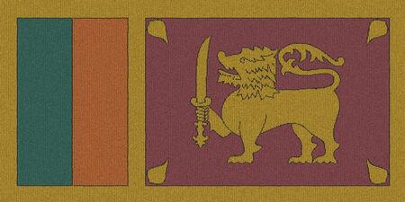 Knitted Sri Lanka flag Stock Photo