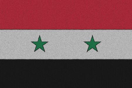 Gebreide vlag van Syrië Stockfoto
