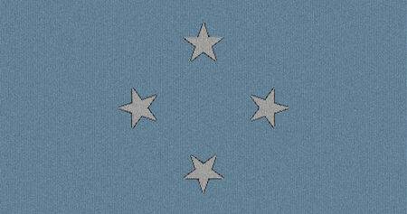 micronesia: Knitted the Federated States of Micronesia flag