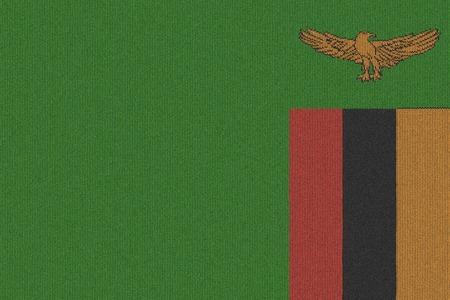 zambia flag: Knitted Zambia flag Stock Photo