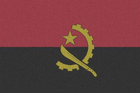 angola: Knitted Angola flag Stock Photo