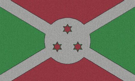 burundi: Knitted Burundi flag