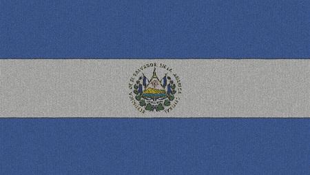 bandera de el salvador: Tejidos de la bandera El Salvador