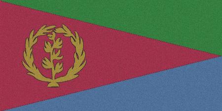eritrea: Knitted Eritrea flag
