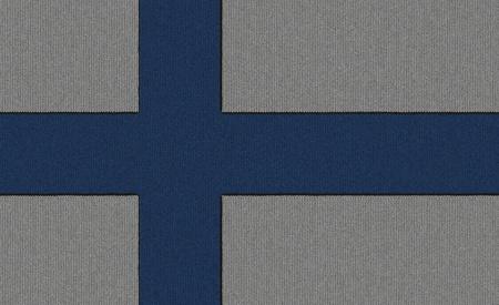 Knitted Finland flag Zdjęcie Seryjne