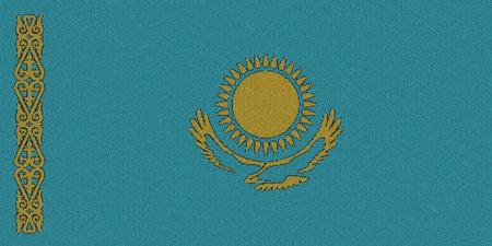 Knitted Kazakhstan flag Reklamní fotografie