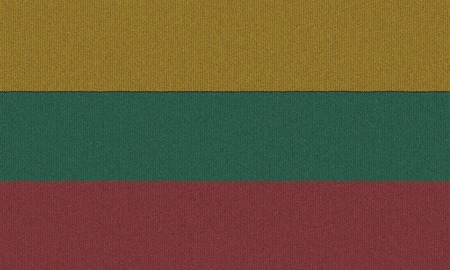Knitted Lithuania flag