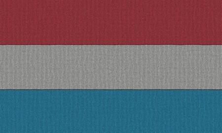 Gebreide vlag van Luxemburg