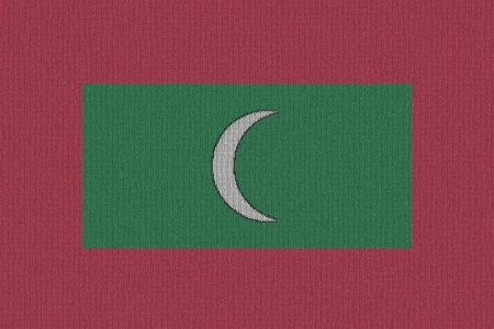 Knitted Maldives flag