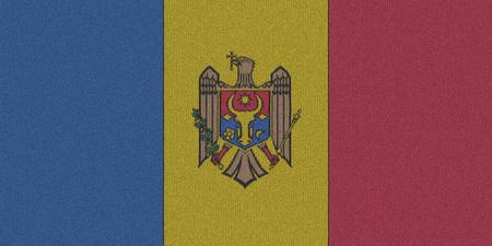 moldova: Knitted Moldova flag