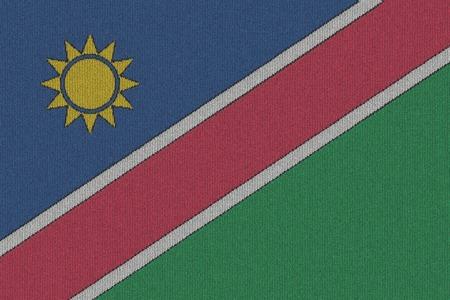 Knitted Namibia flag Stok Fotoğraf