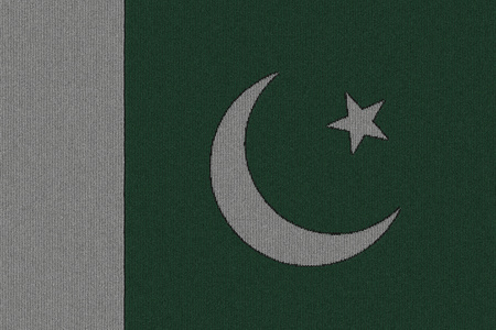 Knitted Pakistan flag