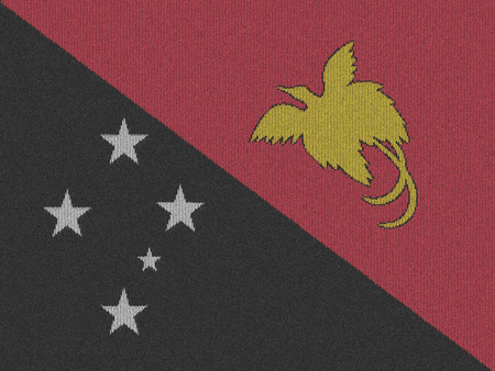 Knitted Papua New Guinea flag Stock Photo