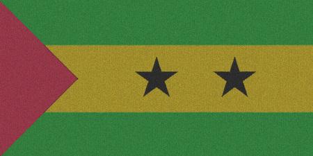 principe: De punto Sao Tom� y Principe bandera