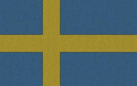 Knitted Sweden flag Reklamní fotografie